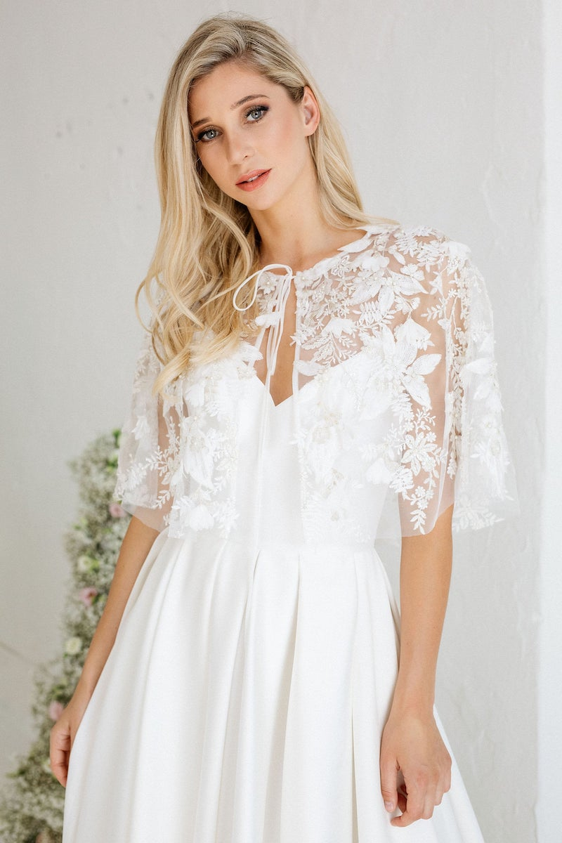Lace Wedding Cape