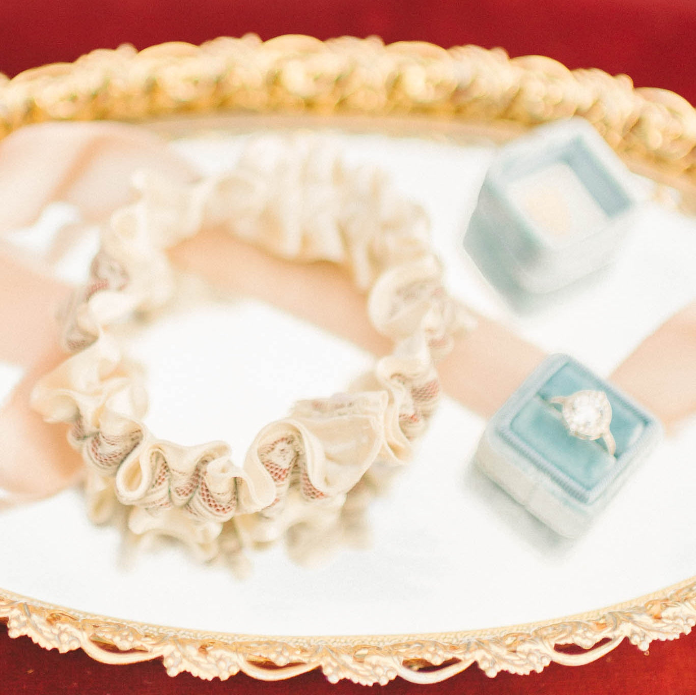 couture lace wedding garter by The Garter Girl