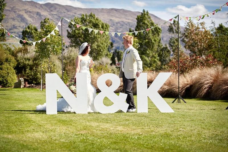 Large Wood Letters Wedding At Home
