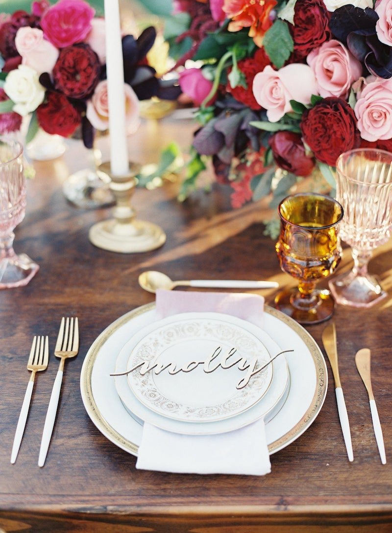 Laser Cut Name Wood Place Card