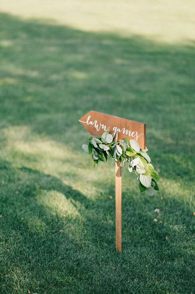 Lawn Games Signs For Outdoor Weddings