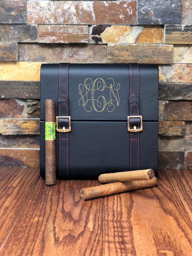 Leather Cigar Humidor Gift for Groom