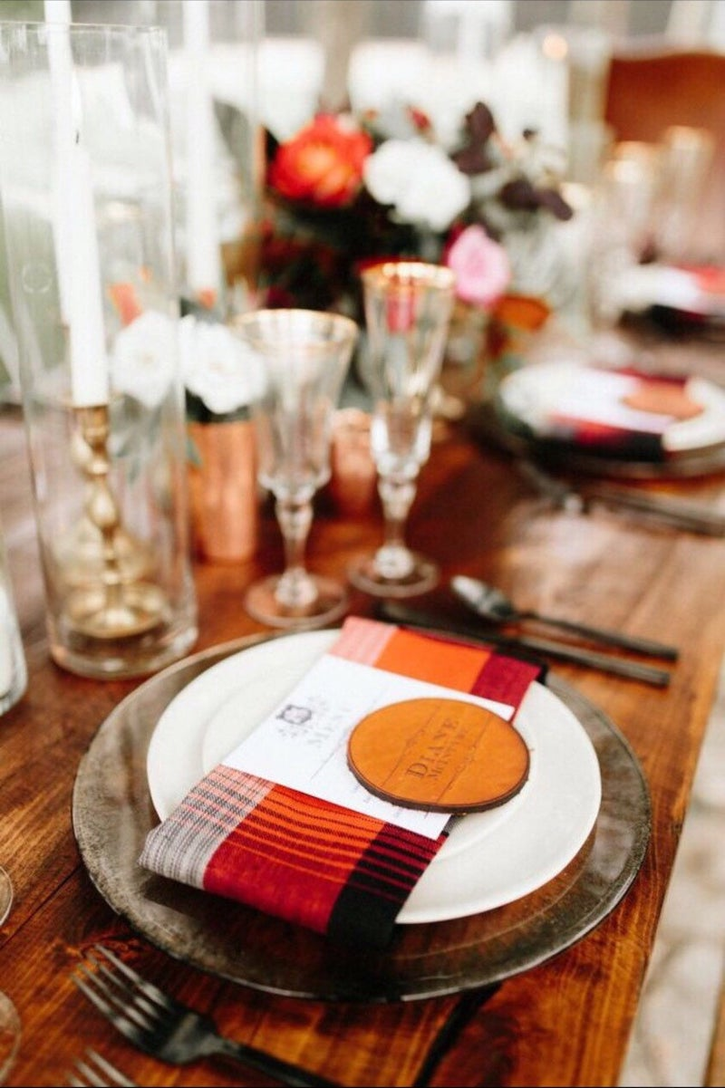 Leather Wedding Place Card
