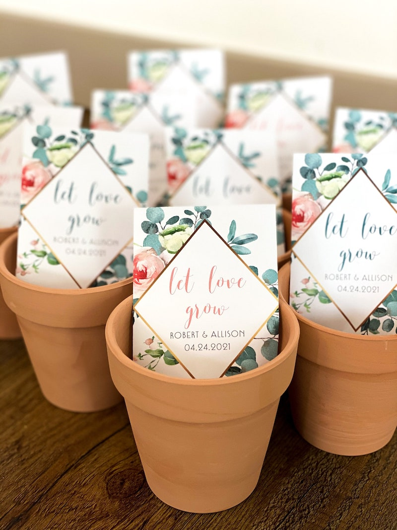 Let Love Grow Seed Packet Wedding Favor