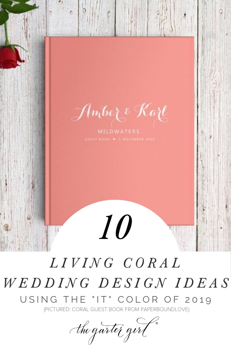 living coral wedding engagement design ideas