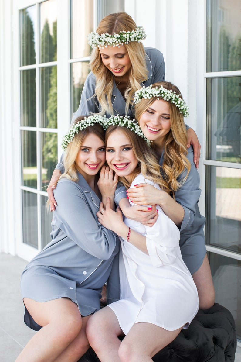long PJ shirts for bridal party