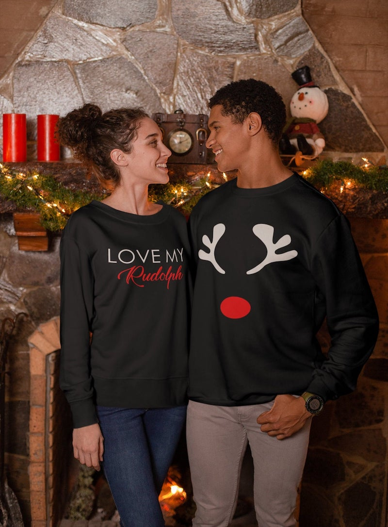 Love My Rudolph Matching Couples Pullover