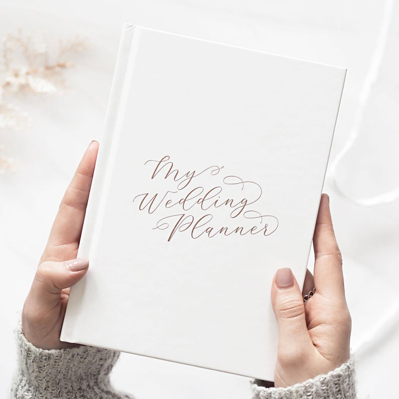 Luxurious Calligraphy Wedding Planning Book