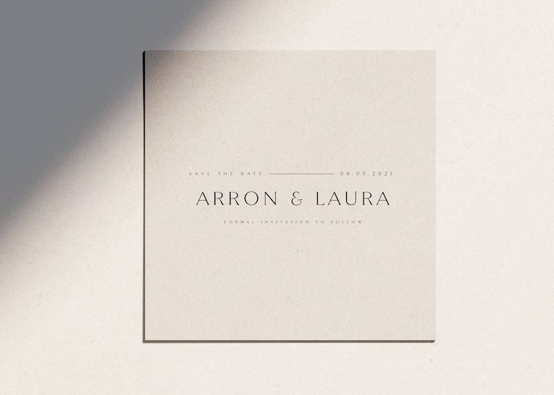 Minimalist Square Save the Date Template