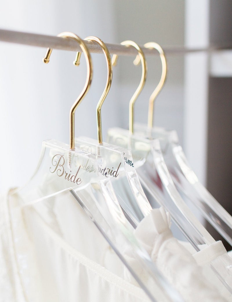 Modern Acrylic Wedding Dress Hanger