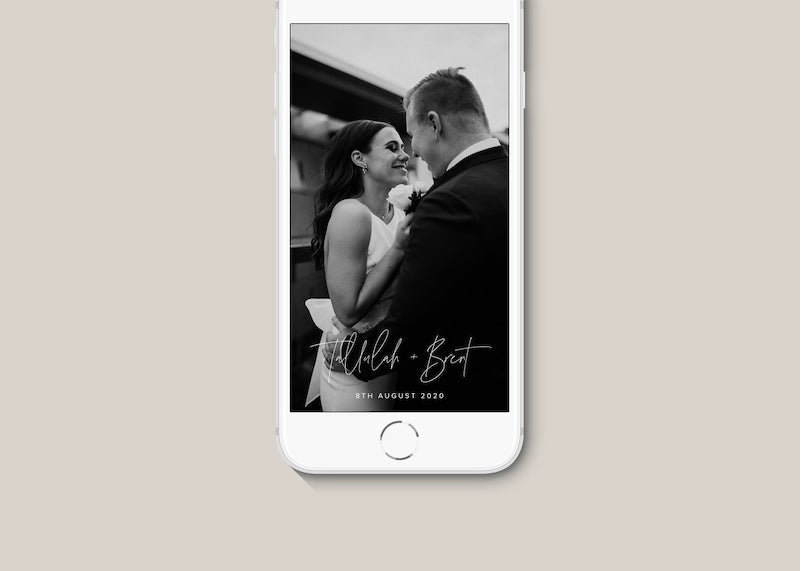 Modern Calligraphy Wedding Snapchat Filter
