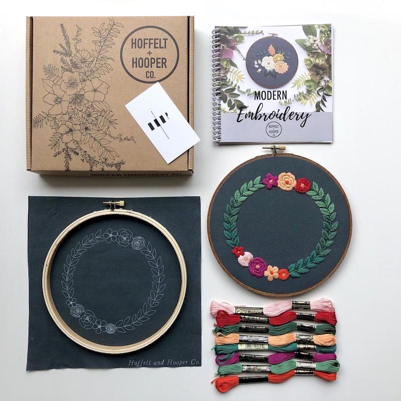 Modern Hand Embroidery Kit
