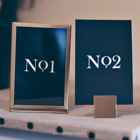 modern table numbers wedding day table number sign