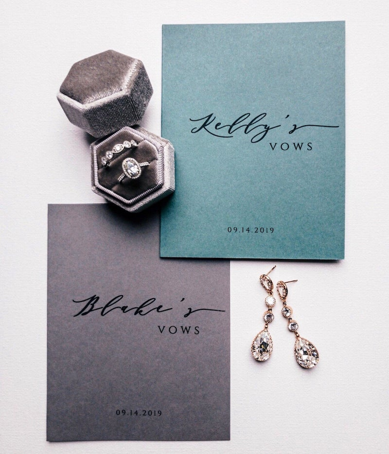 Modern Vow Books for Wedding Day