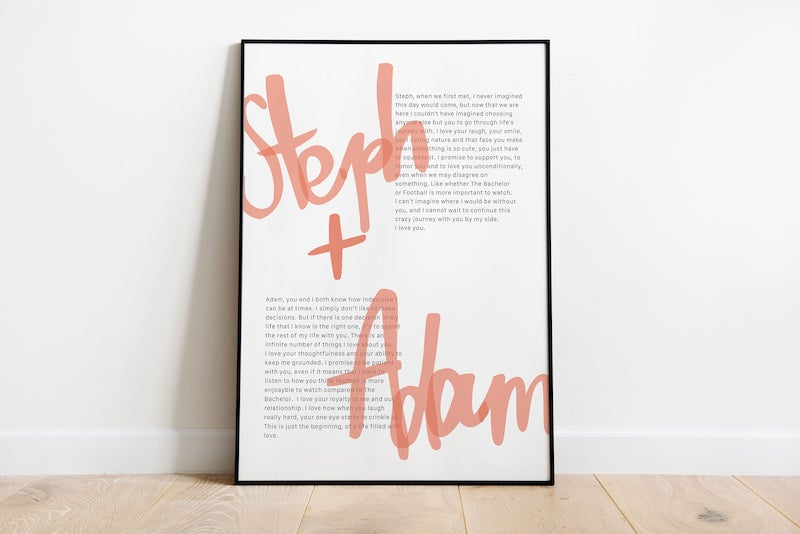 Modern Wedding Vows Artwork