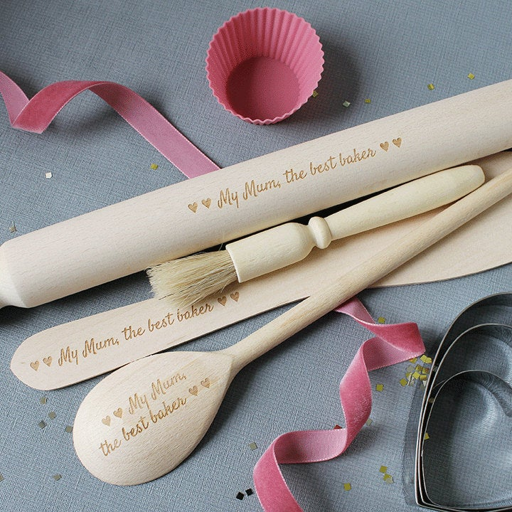 mother of bride groom wooden kitchen tools