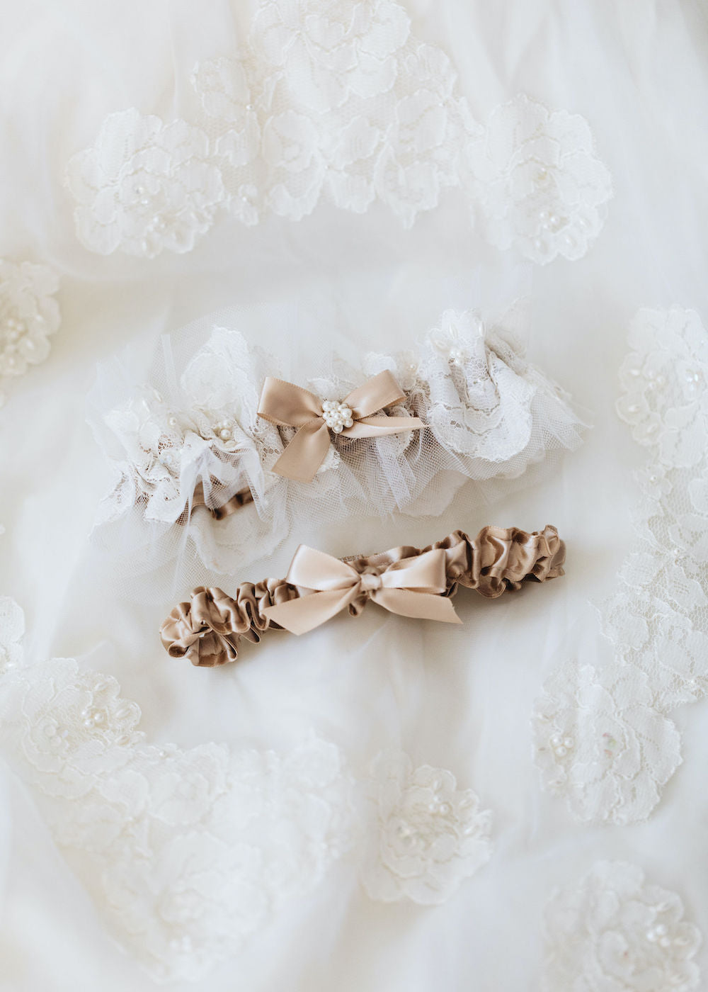 custom wedding garter set handmade from bride's mother's wedding dress w lace and pearls by expert bridal accessory designer, The Garter Girl