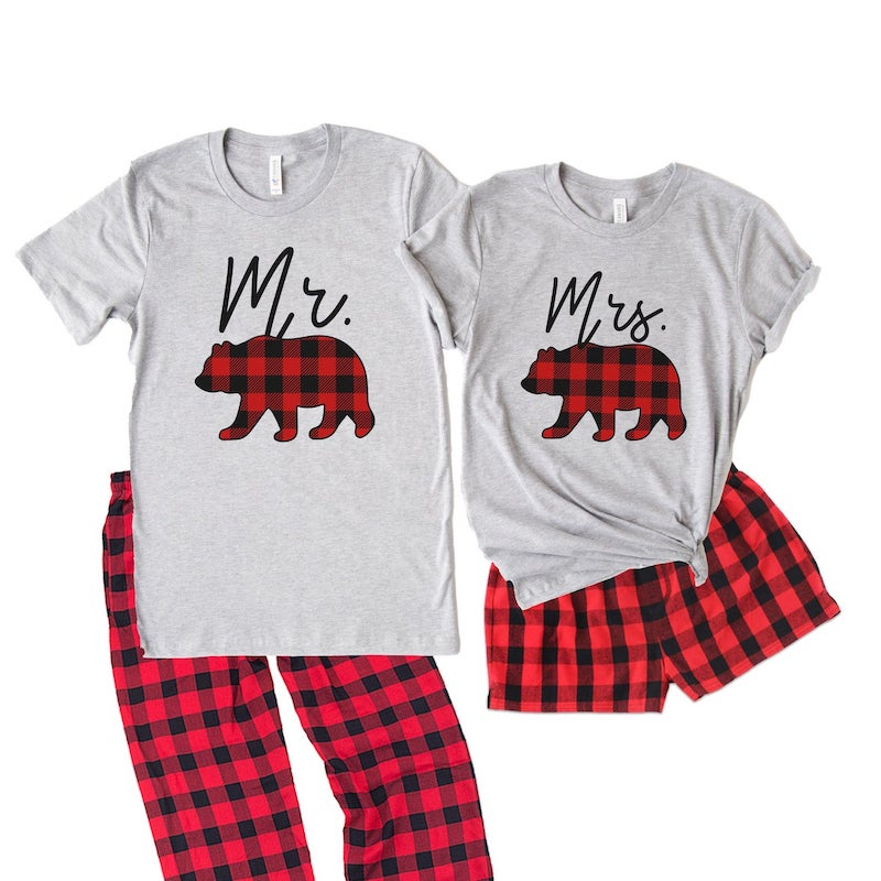 Mr and Mrs Bears Matching PJs