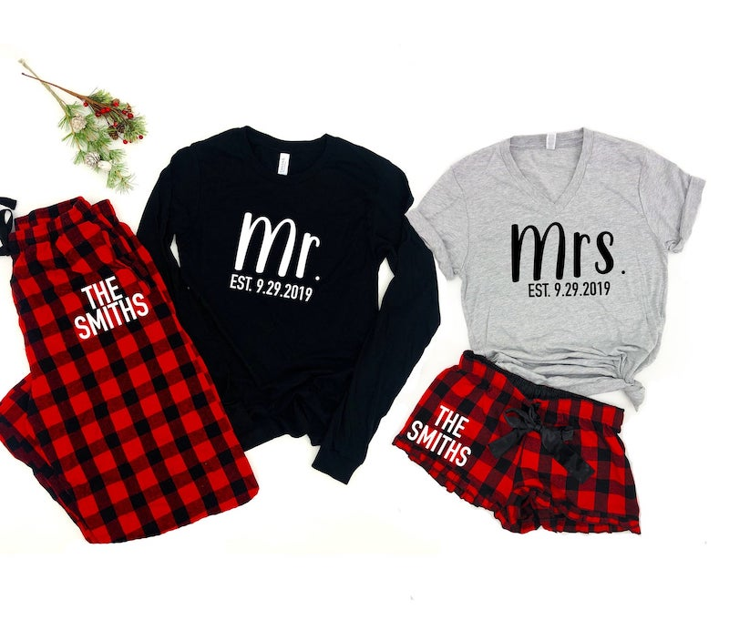 Mr and Mrs Personalized Pajamas
