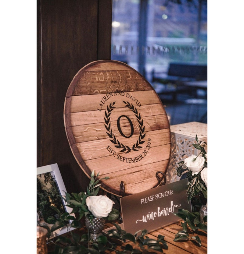 Napa Valley Reclaimed Wine Barrel Guest Book