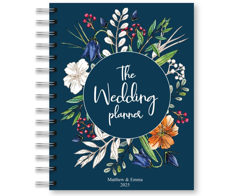 Navy Floral Printable Wedding Planner