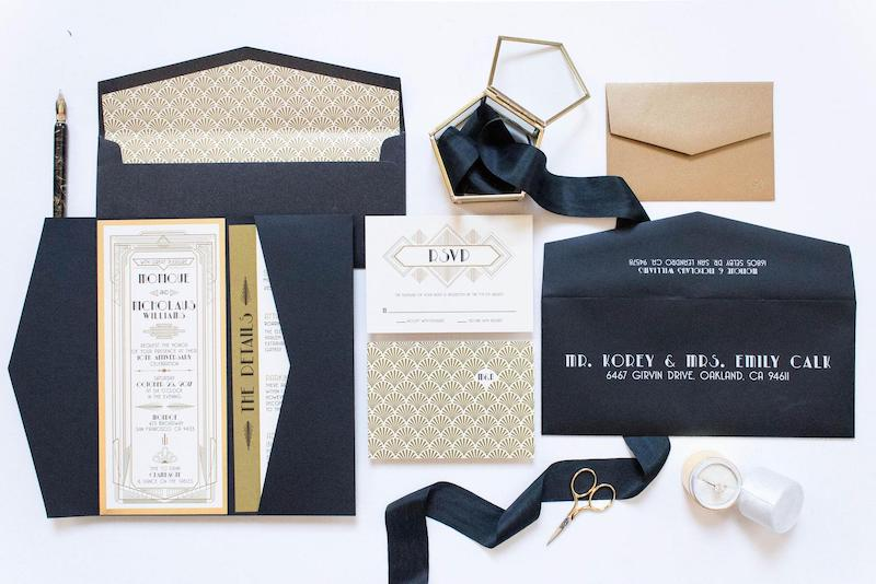 New Years Eve Wedding Invitation Suite