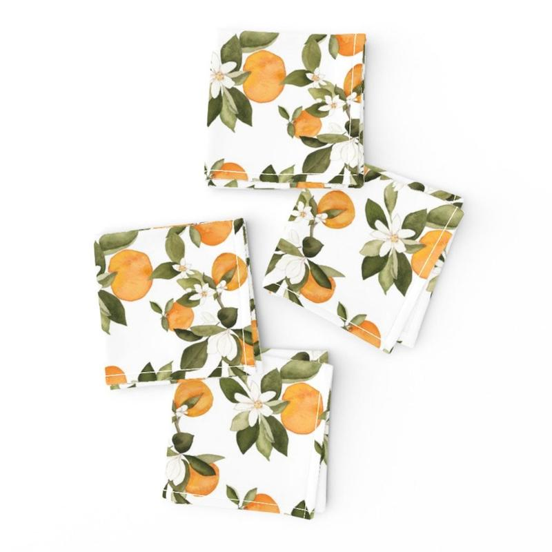 Orange Citrus Cocktail Napkins