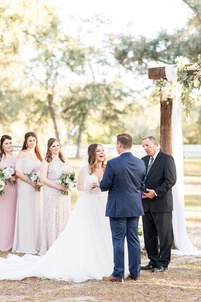 outdoor ceremony - Florida wedding
