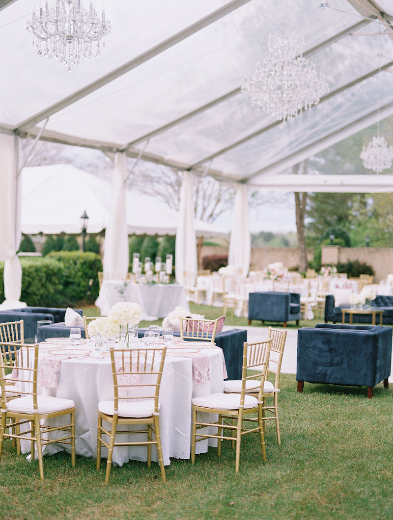 Outdoor Wedding Clear Tent with Chandeliers