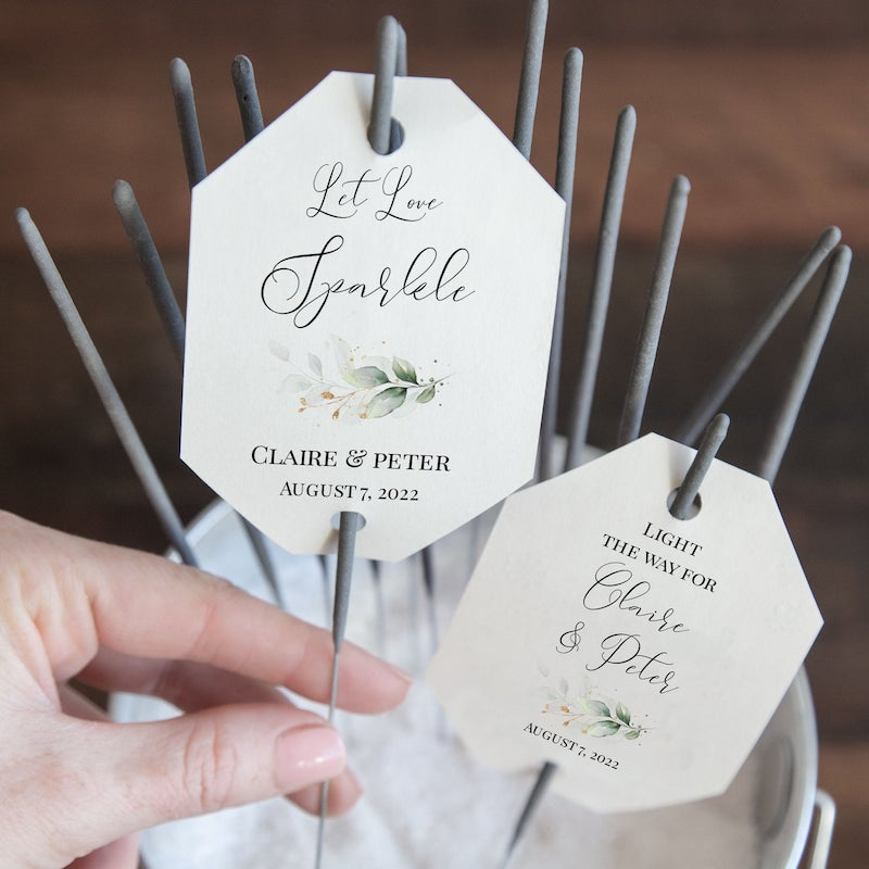 Outdoor Wedding Sparklers Tag
