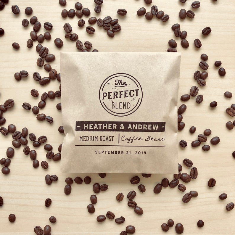 Perfect Blend Coffee Beans Wedding Favor Bag