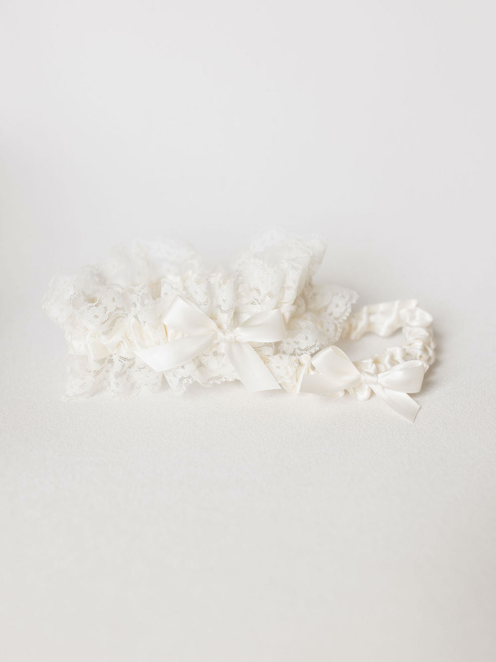 personalized wedding garter set with lace and hand embroider - gorgeous heirloom handmade by The Garter Girl