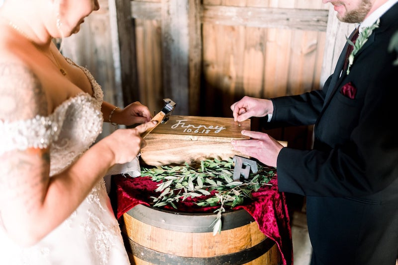 Personalized Wedding Ceremony Wine Box