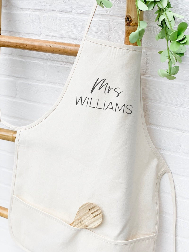 Personalized Apron Bridal Shower Gift