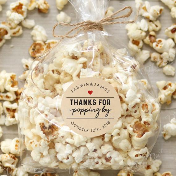 personalized popcorn bag wedding guest favor