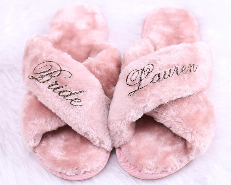 Personalized Bridal Slippers