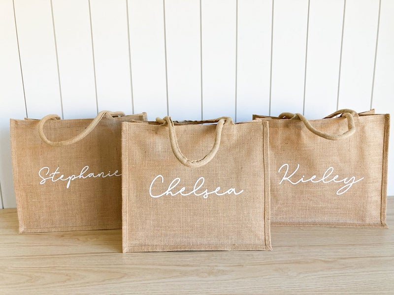 Personalized Bridesmaid Tote Bag Gift