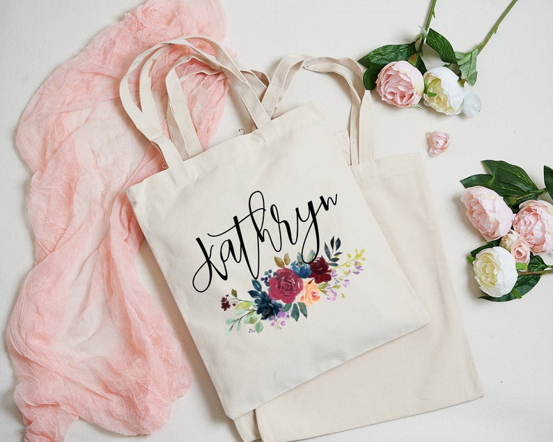 bridesmaid personalized tote gift
