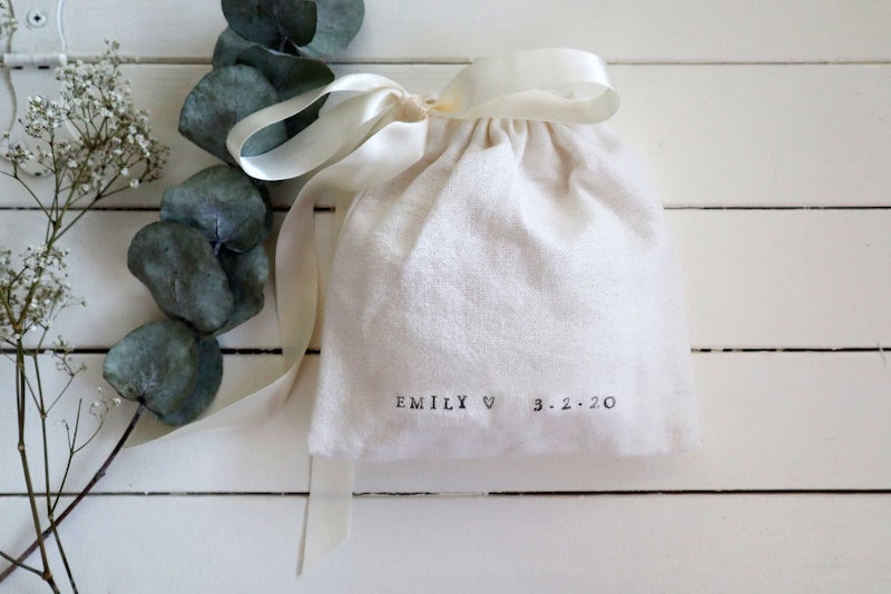 Personalized Cotton Travel Pouch