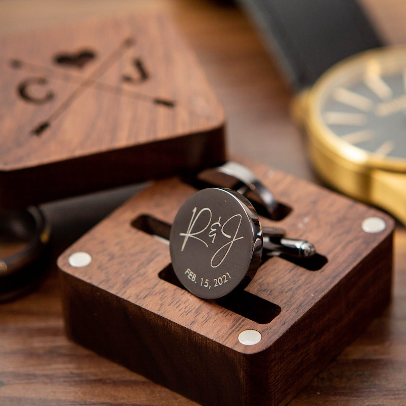 Personalized Cuff Links for Groom