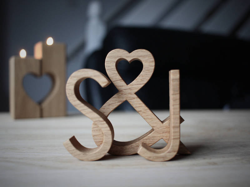 personalized wooden letters gift for the couple