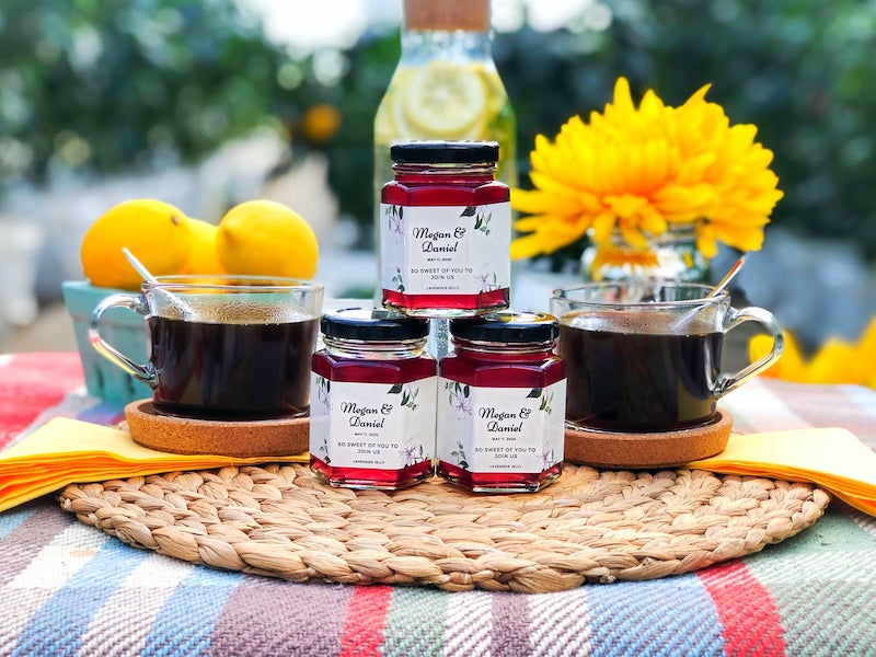 Personalized Jam Wedding Favors for Brunch Wedding
