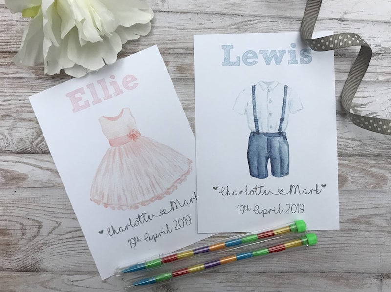 Personalized Kids Wedding Activity Book