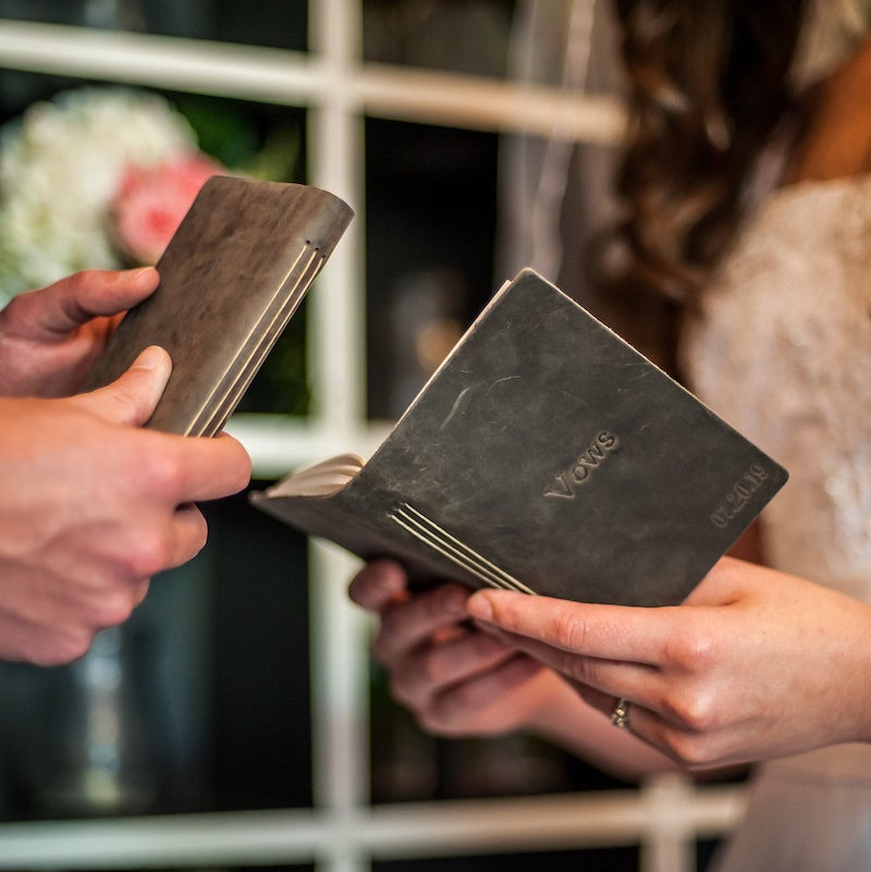 Personalized Leather Wedding Vow Books for Wedding