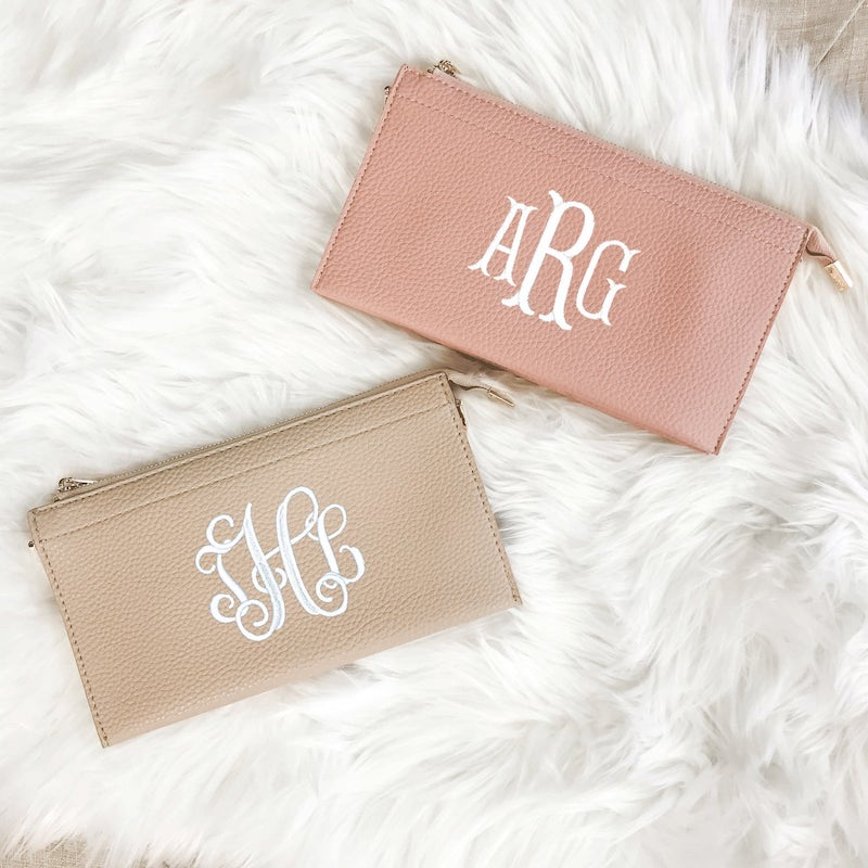 Personalized Monogram Clutch for Bride