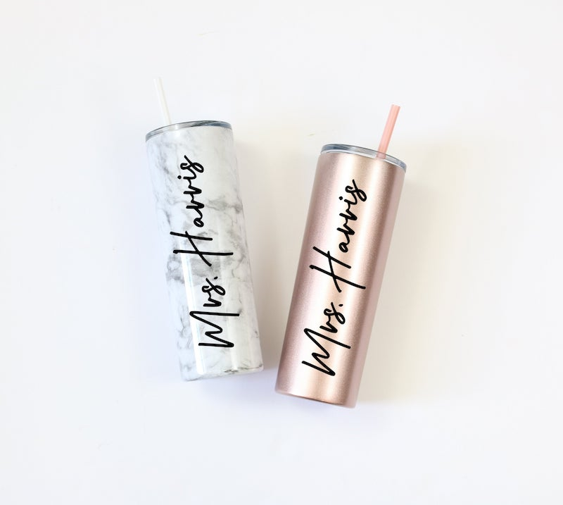 Personalized Mrs Tumbler for Bride