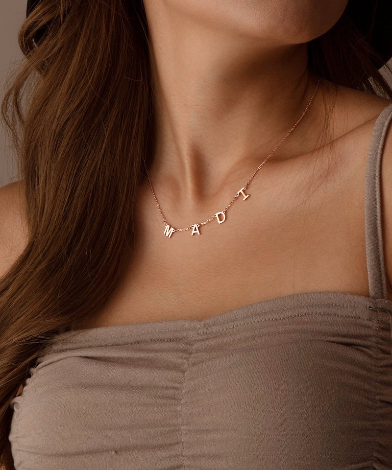 Personalized Name Necklace Gift for Bridesmaids