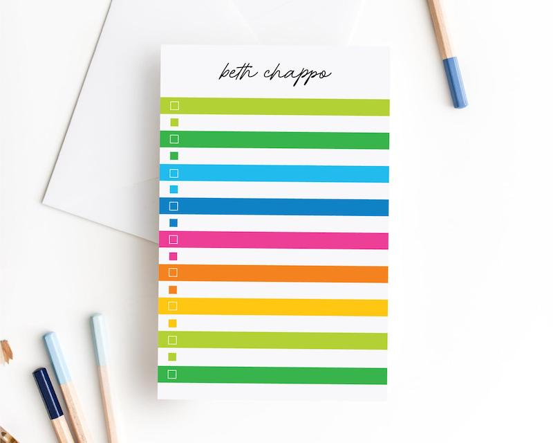 Personalized Notepad To Do List