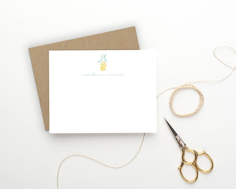 Personalized Pineapple Stationery