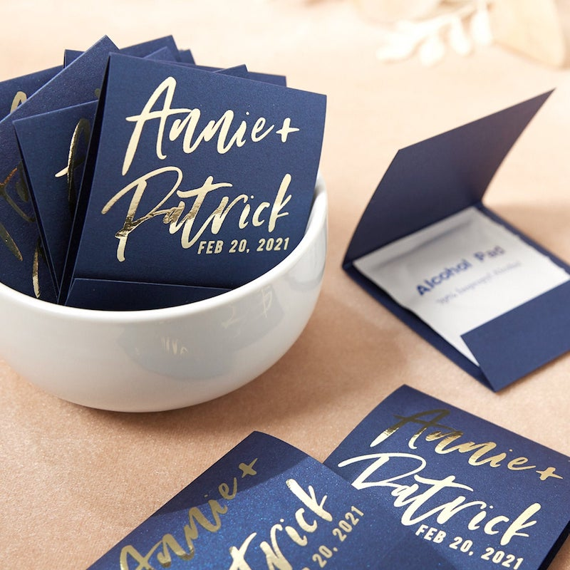 Personalized Sanitizing Hand Wipe Wedding Favor